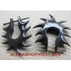 Fire Dance Black horn Piercings Earring Stud Design