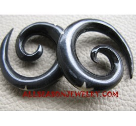 Natural Organic Earring Tribal Piercing Spiral Gauges