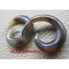 Brown Horn Gauges Organic Handmade Earring Tribal Design