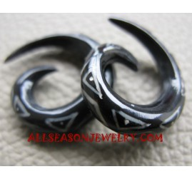 Tattoo Horn Earrings