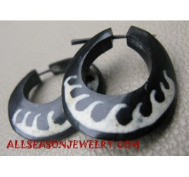 ear stud Tribal Piercings Horn Tattoo