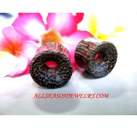 Coco Wood Piercings Plugs Ear Tunnels Tribe Design