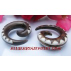 Wooden Spiral Fake Gauges Earring Tribal PiercingsTunnel