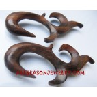 Carving Tribal Earring Wood