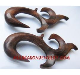 Carving Tribal Earring Wood