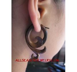 Wood Stick Pierced Earrings