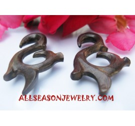 Wood Tribal Earring Carving