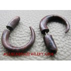 Wood Tribal Earring Piercing Fake Gauge