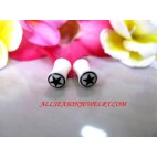 White Tribal Earring