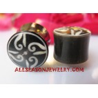 Earrings Horn Plugs Tattoo Tribal