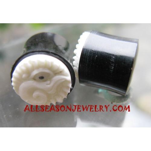 Earrings Plug Horn