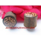 Wood Coco Earring Plug Tribal Ethnic Tunnel