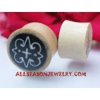 Wooden Tattoo Earrings Plugs Piercings Handmade