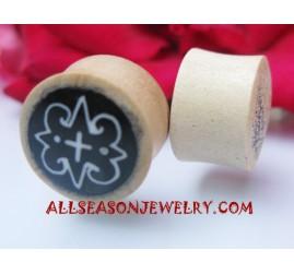 Wooden Tattoo Earrings Plugs Piercings Handmade