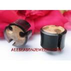 Wooden Plug Earrings