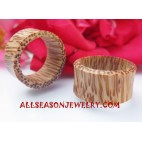Woods Coco Palm Earring Tribal Plugs Expander