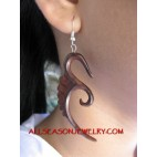 Hook Earrings Tribal Carvings