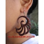 Organics Wood Hand Carved Earring Hook