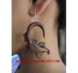 Tribal Earring Silver Hook