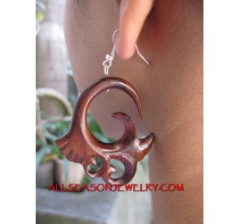 Silver Hook Earring Tribal
