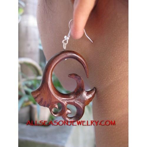 Silver Hook Earring Tribal