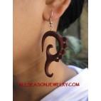 Wood Carving Earring Hook