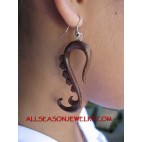 Wood Crafted jewelry Earring Ethnic Design