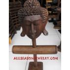 Buddha Head Earrings Bangle Bracelet Displays All In