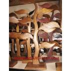 Earrings Woods Displays Palm Tree Design