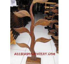 Wooden Earring Displays Hanger Flower Design