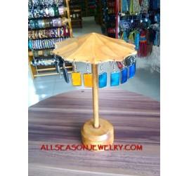 Wooden Jewelry Display Earing Umbrella Design
