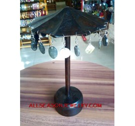 Earring Display Wood Jewelry Umbrella Design