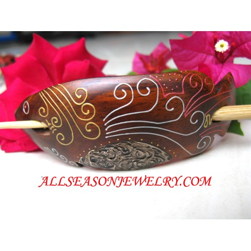 Wooden Carved Hairstick