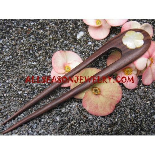Hair Stick Wooden Shell