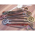 Wooden Carving Hair Stick