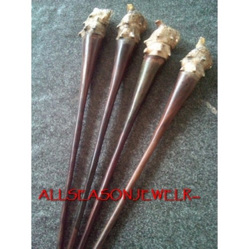 Shells Wood Hair Stick