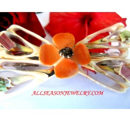 Flower Shell Hairpins