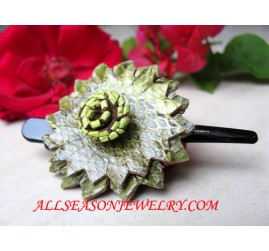 Leather Hairpins Accessories