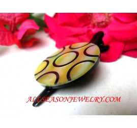 Shell Hairpins Painted