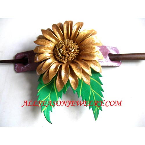 Leather Hairstick Design