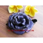 Flower Leather Hair Slide