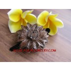Fashion Leather Hair Slide