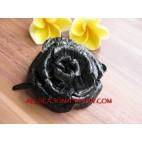 Flower Leather Slide Hair