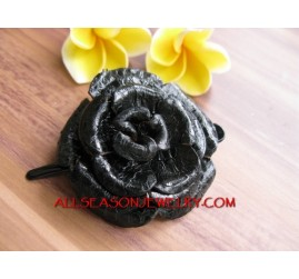 Flower Leather Slide Hair