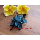 Small Leather hair Slide