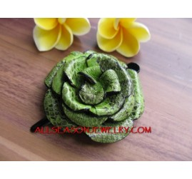 Green Color Hair Slide Flower