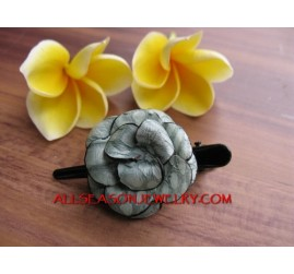 Leather Hair Flower Design