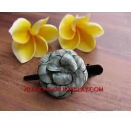Leather Hair Flower Design