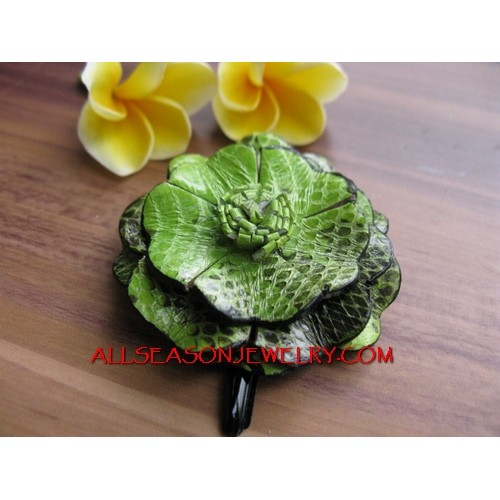 Hand Crafts Hair Flower Slide