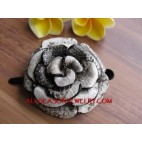 Hair Flower Leather Design